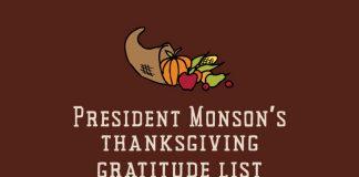 Title graphic Monson's thanksgiving gratitude list