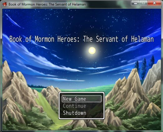 Book of Mormon Heroes video game start screen