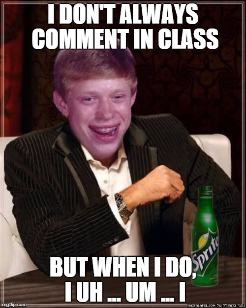 Comment in Class