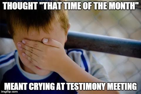 Crying at Testimony Meeting
