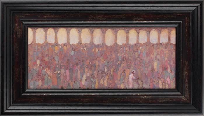 J. Kirk Richards' Healing the Multitudes painting