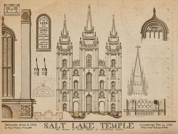 Salt Lake City Temple Blue Prints