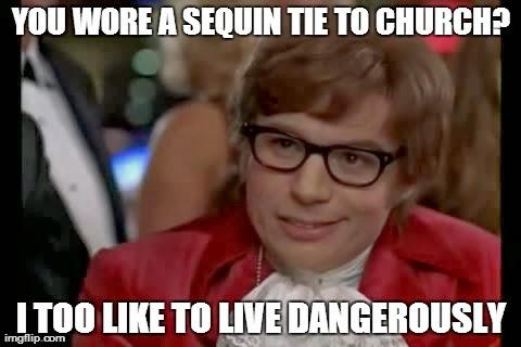 Sequin Tie