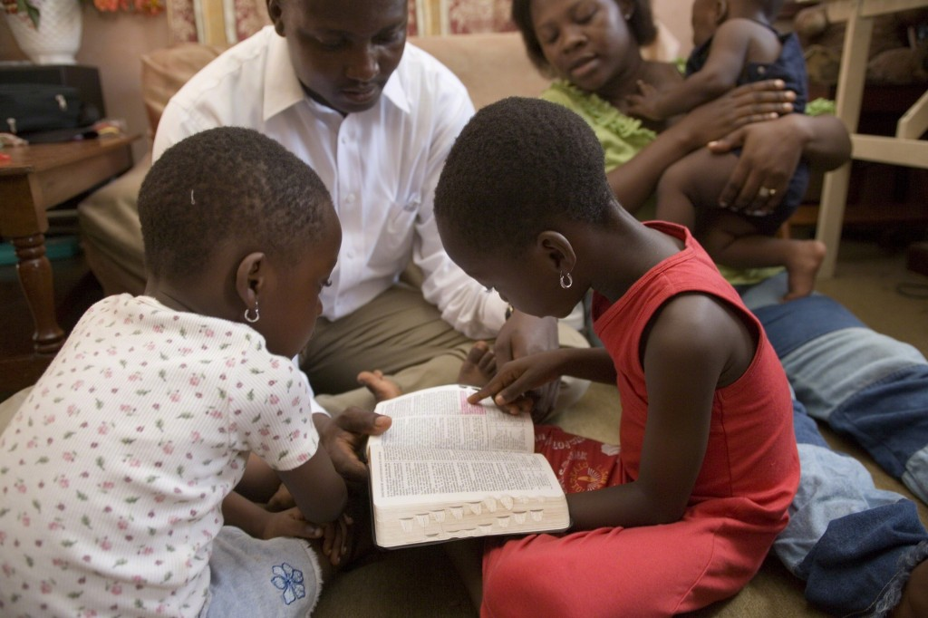 Family has focus on Christ by reading the scriptures