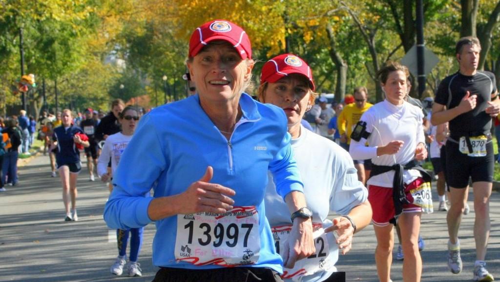 Mother inspires children to set goals by running a marathon