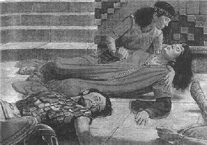 Abish touches the queen and raises her from the trance