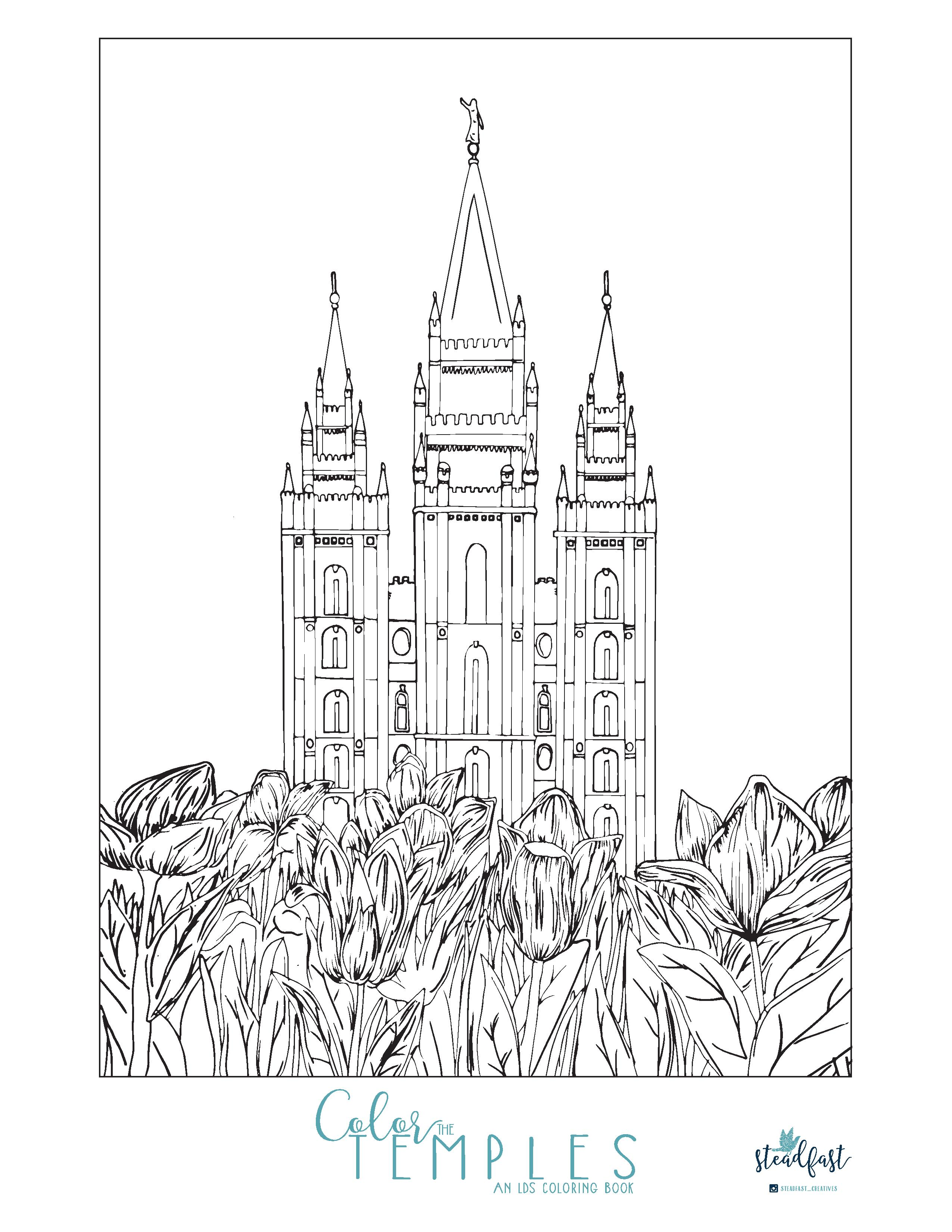 Enjoy This Beautiful Free Temple Coloring Page Third Hour