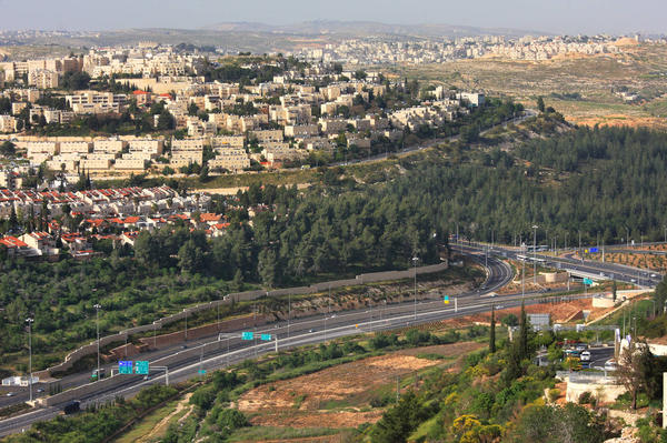 view of Jerusalem and surrounding highways