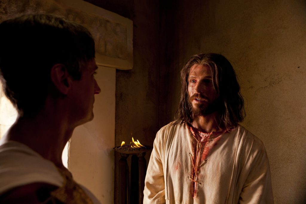 Pilate questioning Jesus Christ about truth