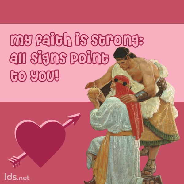 The Liahona, BOM Valentine meme