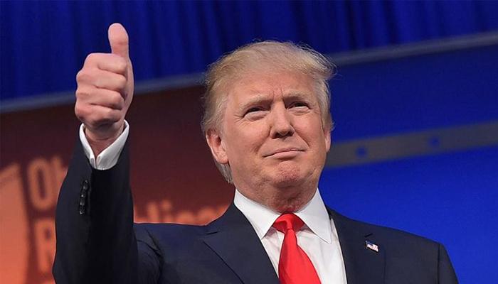 Donald Trump at a Presidential Candidate debate