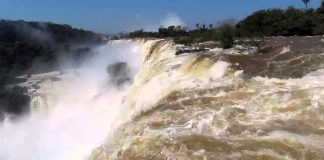 The Devil's Throat at Iguassu Falls