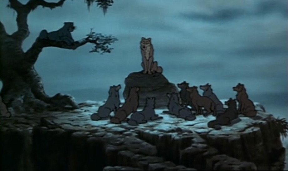 the Jungle Book wolves hold a family council