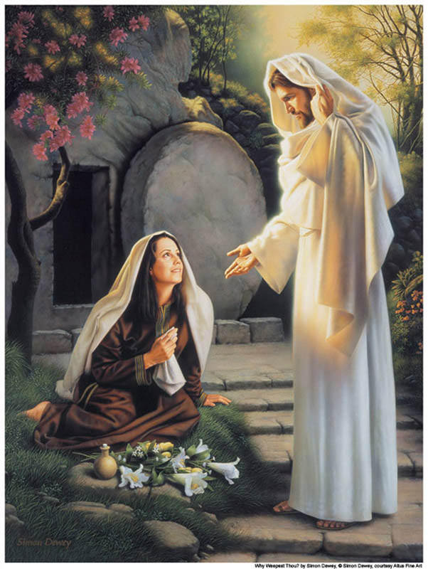 the resurrected Christ appears to Mary