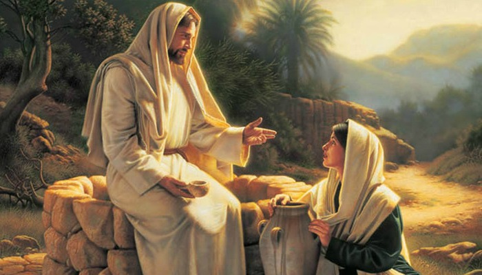 Christ with Woman at the Well art