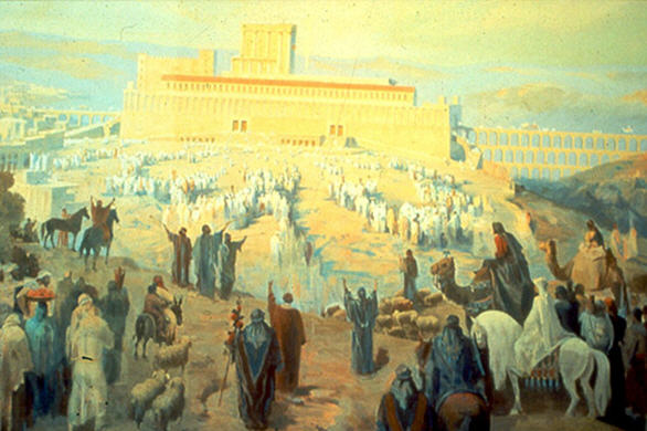 Jews making pilgrimage to the temple