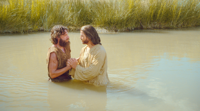 Chist being baptized