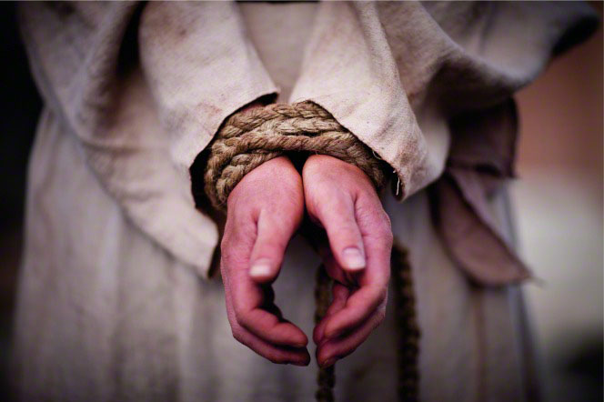 Christ wrist's bound