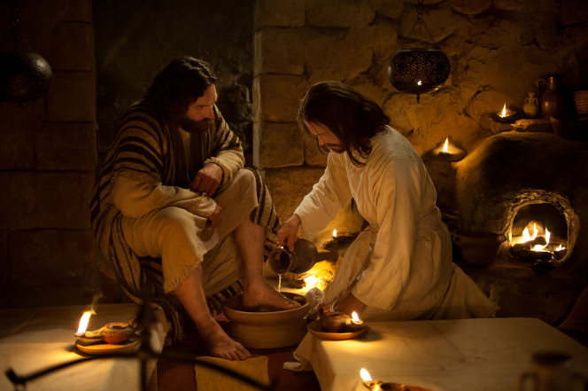 Christ washing Peter's feet