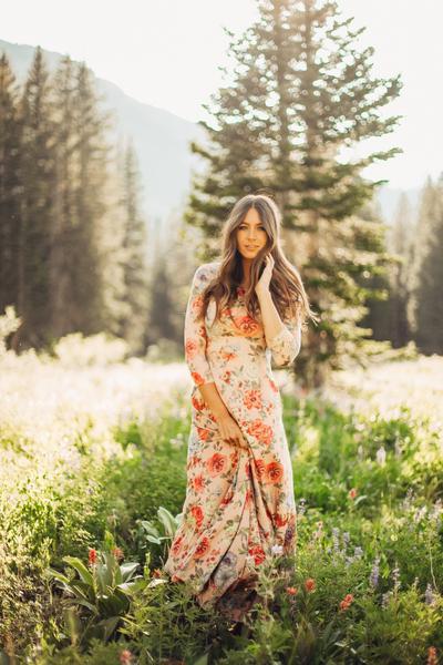 flowered maxi dress from piperandscoot.com