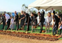 Temple ground breaking