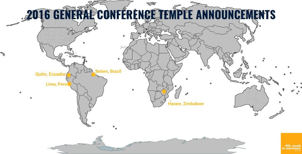 map of new Mormon temple locations April 2016