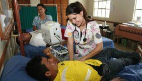 Nurse in LDS meetinghouse in Ecuador