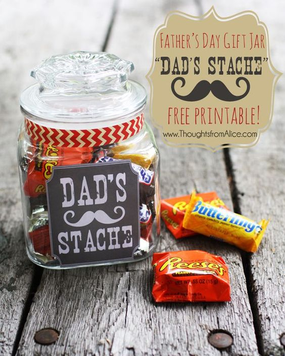 dad's secret father's day candy stache