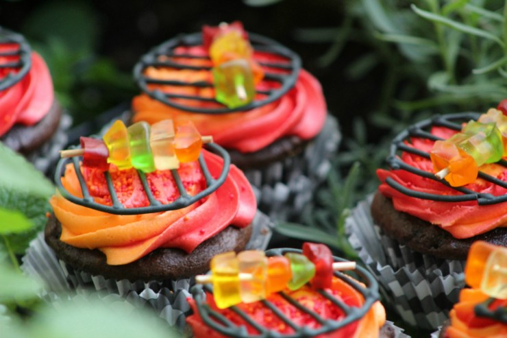 Grill cupcakes Father's Day recipe