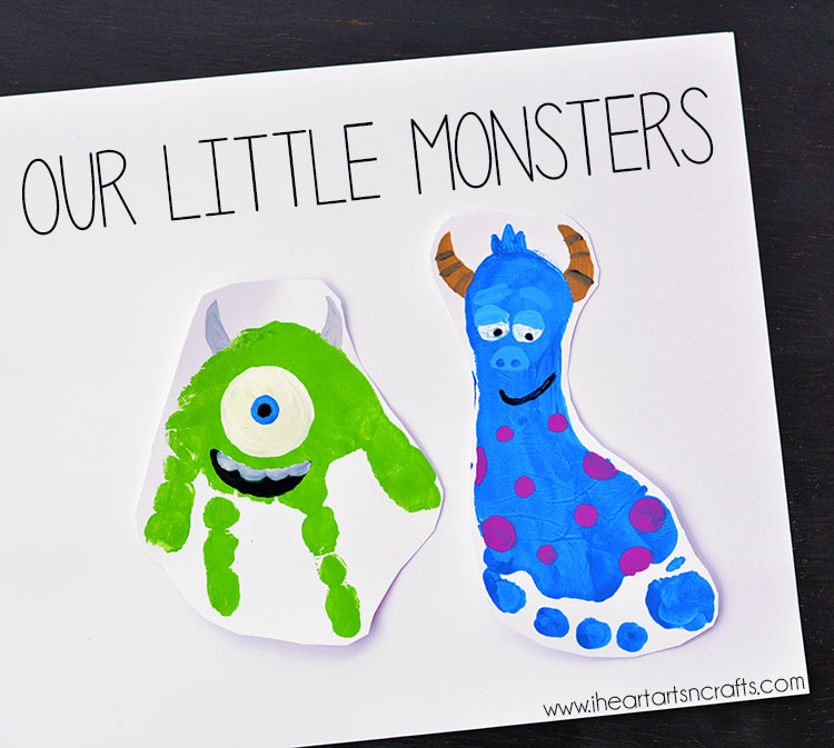 monsters inc inspired father's day card