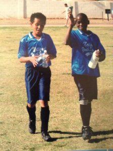 Kelvin an d Afonso mozambican orphans play soccer