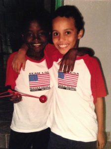 Kelvin and Afonso mozambican orphans on the 4th of July
