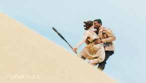 """Star Wars Couple"" Kissing"