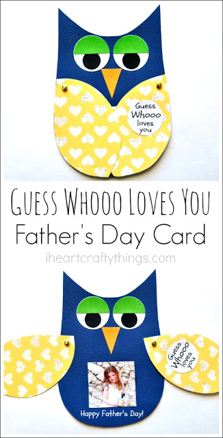 Father's Day card, Guess Who Loves You?