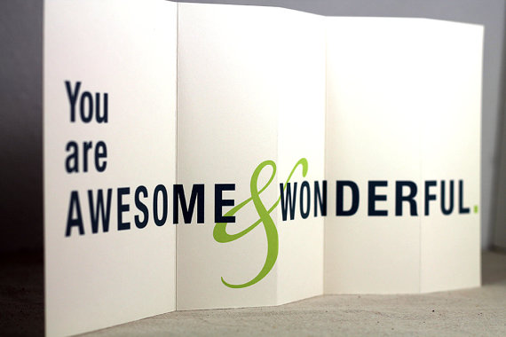you are awesome and wonderful father's day card