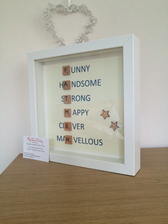 father's day scrabble frame