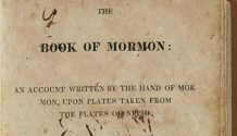 1st edition of Book of Mormon