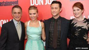 Tony Danza and Joseph Gordon-Levitt alongside co-stars Scarlett Johanssen and Julianne Moore.