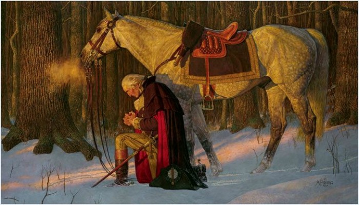 President Washington Praying