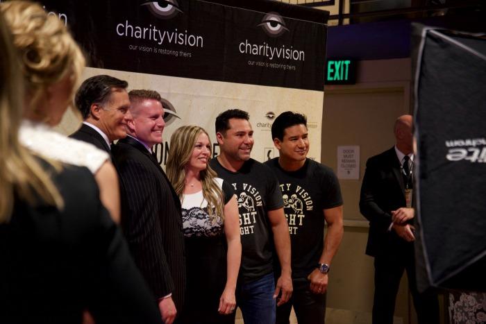 mitt romney mario lopez oscar de la hoya charityvision
