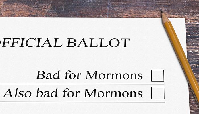 bad for Mormons ballot