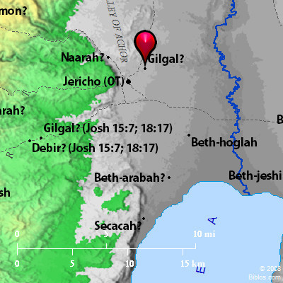 Gilgal map