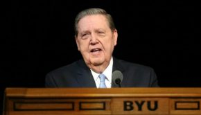 lds website announced elder holland byu