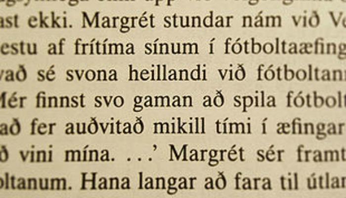 icelandic text