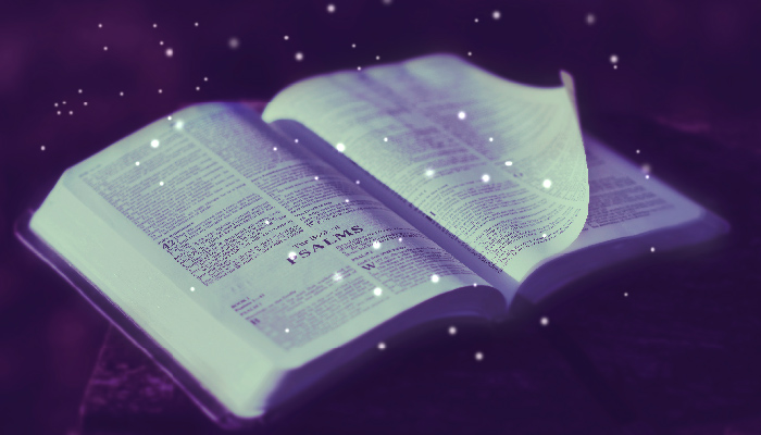 old scriptures with stars
