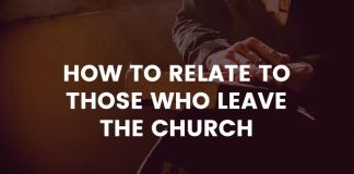 Relating to those who leave the church title graphic