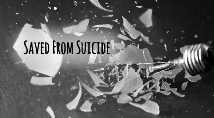 Saved from Suicide graphic title