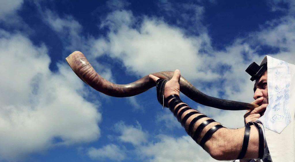 shofar and tefillim: Feast of Trumpets