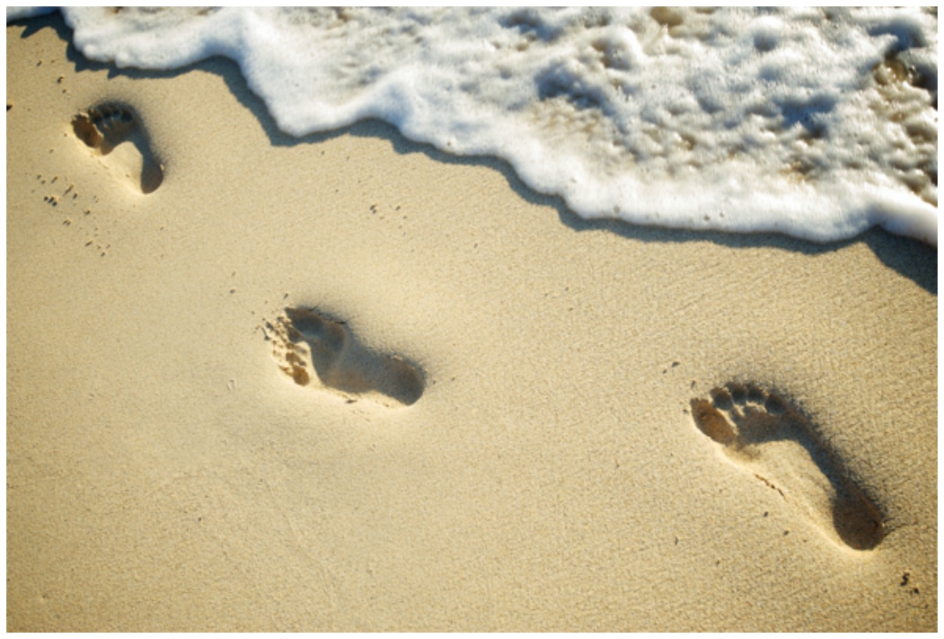 Let the power of example leave an impression in someone's life like footprints in the sand