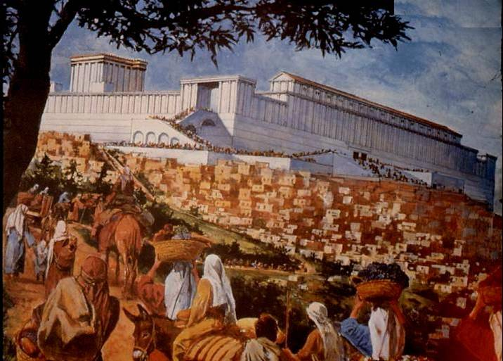 pilgrims in Jerusalem art: Feast of Trumpets